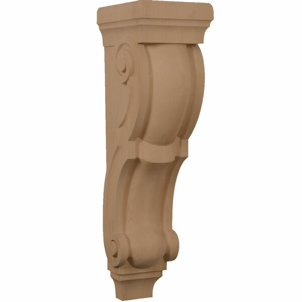 Traditional 26H x 7W x 8 1/2D Pilaster Corbel by Ekena Millwork