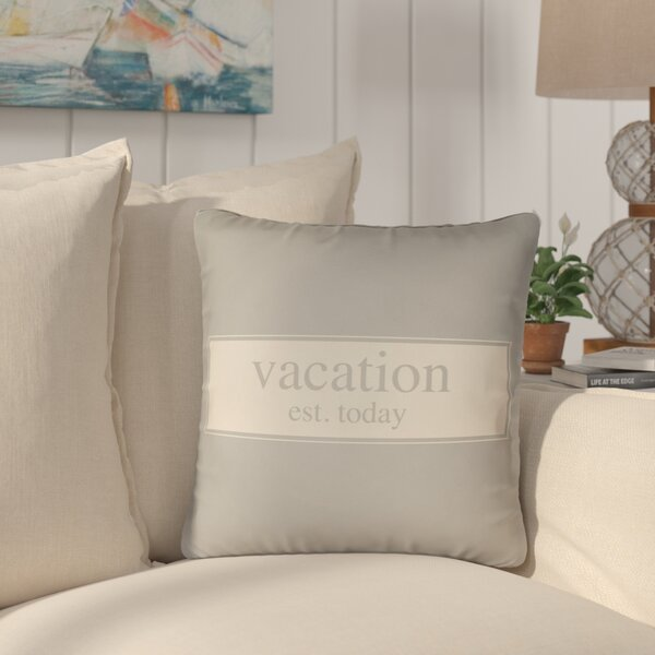Courville Vacation Indoor / Outdoor Throw Pillow By Highland Dunes
