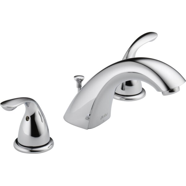 Widespread faucet Bathroom Faucet with Drain Assembly by Delta