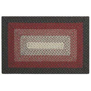 Compare prices French Hand-Braided Red/Black Area Rug By CompanyC