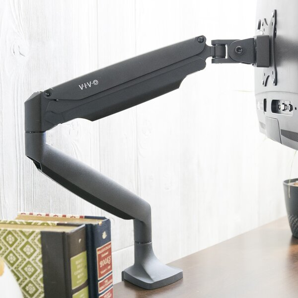 Single Monitor Height Adjustable Universal Desk Mount by Vivo