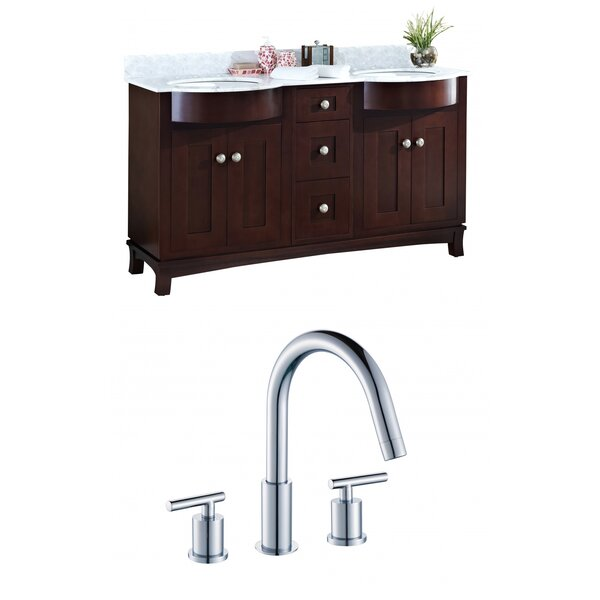 Kester 60 Rectangular Wood-Veneer Double Bathroom Vanity Set by Darby Home Co