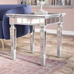 Jerlene Glam Mirrored Square End Table by Willa Arlo Interiors