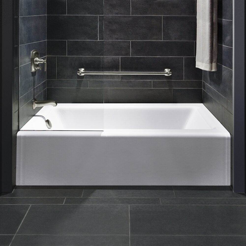 with inch kingston left eden aqua hole tub alcove acrylic brass hand product drain