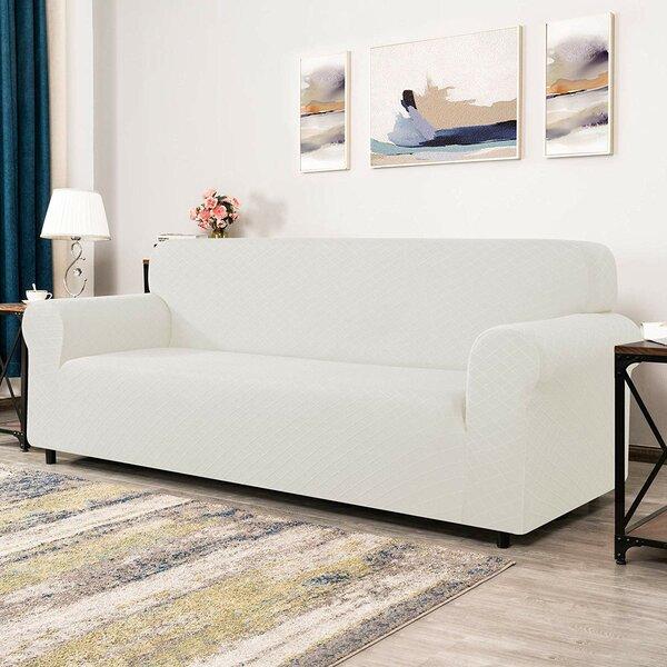 Rhombus Box Cushion Sofa Slipcover By Winston Porter