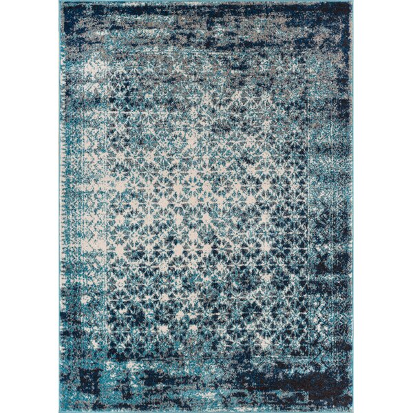 Allentow Modern Distressed Royal Blue Indoor Area Rug by Bungalow Rose