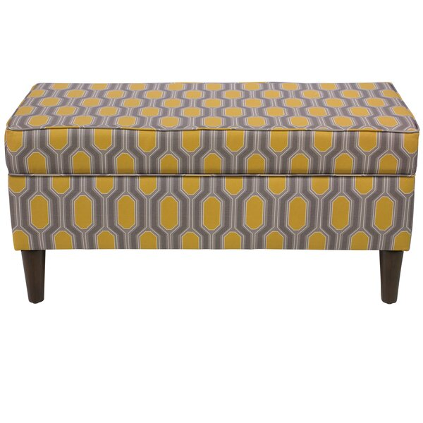 Pacheco Linen Upholstered Storage Bench by Brayden Studio