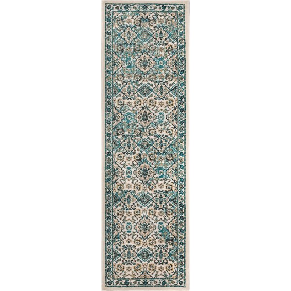 Springport Biege/Blue Area Rug by Charlton Home