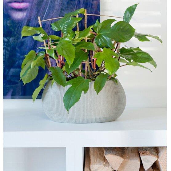 Ridged Decorative Ficonstone Pot Planter by Pottery Pots