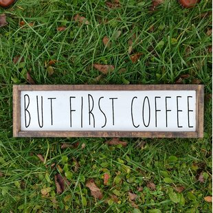 but first coffee framed funny kitchen wood sign wall decor - Funny Kitchen Signs