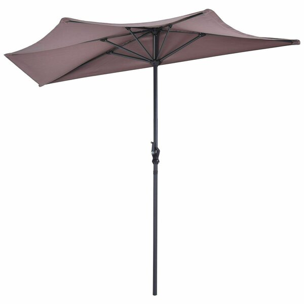 Renea 9ft Half Round Patio Bistro Wall Balcony Door Window Sun Shade Market Umbrella by Freeport Park
