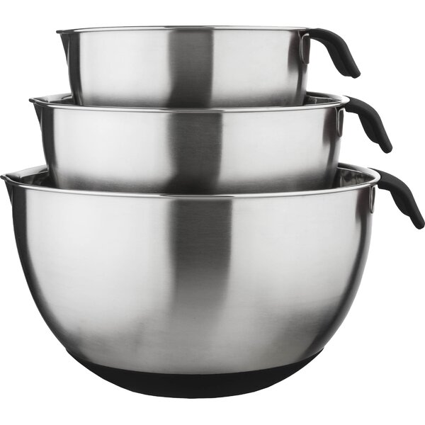 3 Piece 18/10 Stainless Steel Mixing Bowl Set by Culinary Edge