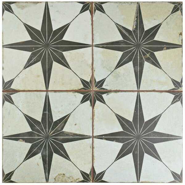 Royalty 17.63 x 17.63 Ceramic Field Tile in Nero by EliteTile