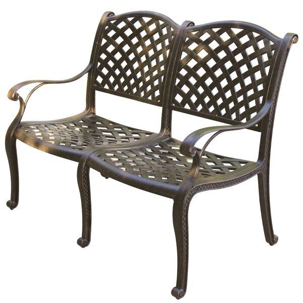 Lincolnville Aluminum Bench with Cushion by Fleur De Lis Living