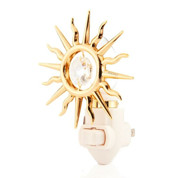 24K Gold Plated Sun Night Light by Matashi Crystal