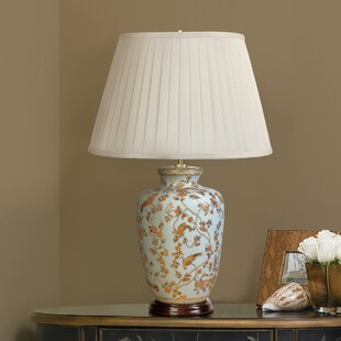 Compare prices Madeira Birds and Berries 26 Table Lamp By Darby Home Co
