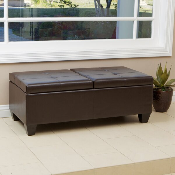Palos Storage Leather Tufted Ottoman by Alcott Hill Alcott Hill