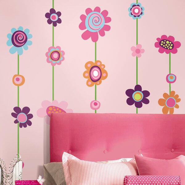 Room Mates Deco Flower Stripe Wall Decal by Room Mates