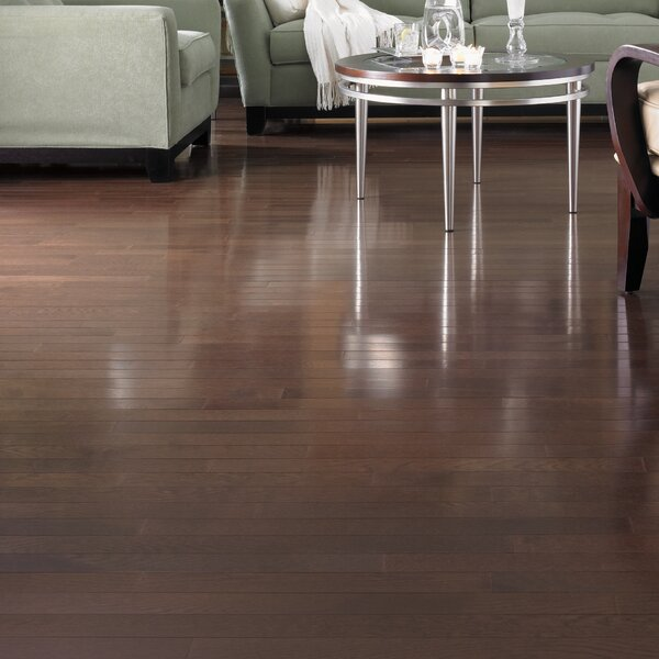 Color Plank 5 Solid White Oak Hardwood Flooring in Metro Brown by Somerset Floors