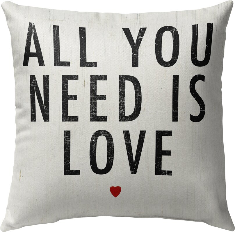 All You Need Is Love Indoor Accent Pillow