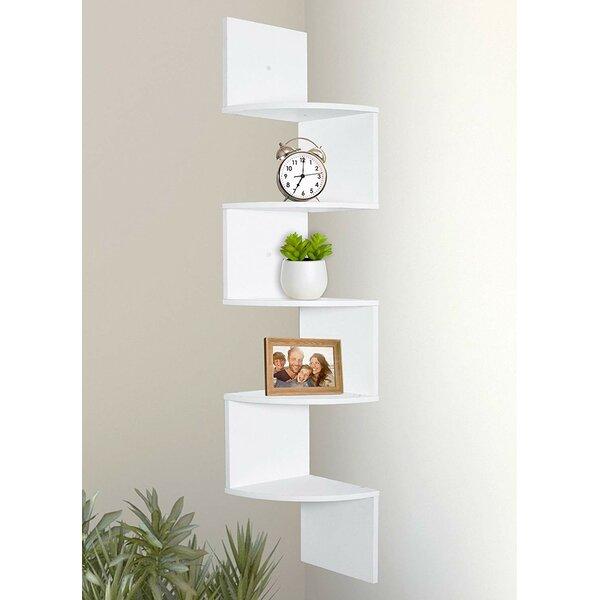 Tariq 5 Tier Corner Wall Shelf