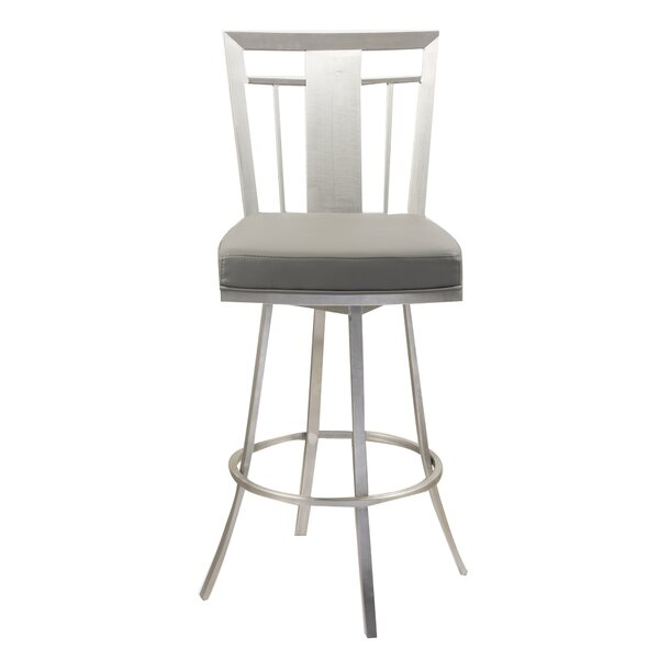 Norridge 30 Swivel Bar Stool by Wrought Studio
