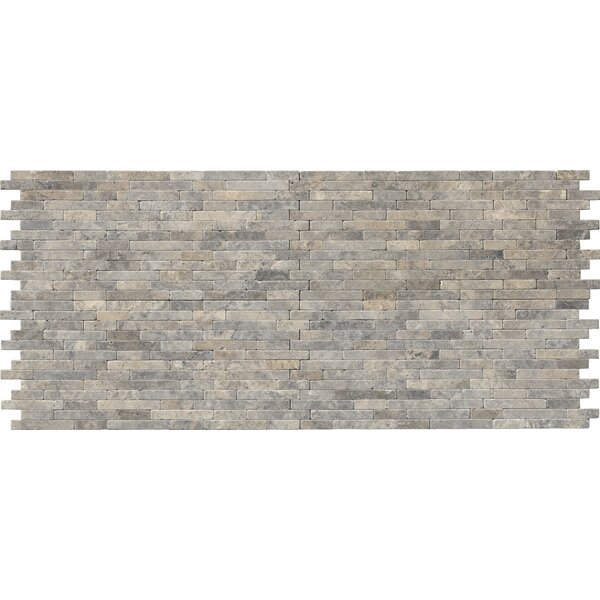 Silver Ash 7 x 14 Travertine Splitface Tile