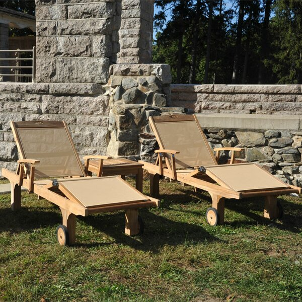 Chesapeake Teak Indoor/Outdoor Chaise Lounge (Set of 2) by Regal Teak
