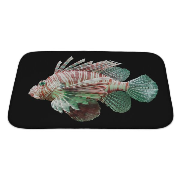 Fish Pterois Volitans, Lionfish Bath Rug by Gear New