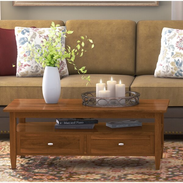 Alameda Solid Wood Coffee Table with Storage by Alcott Hill Alcott Hill