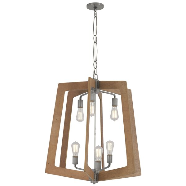 Kirts 6 - Light Unique / Statement Geometric Chandelier By 17 Stories