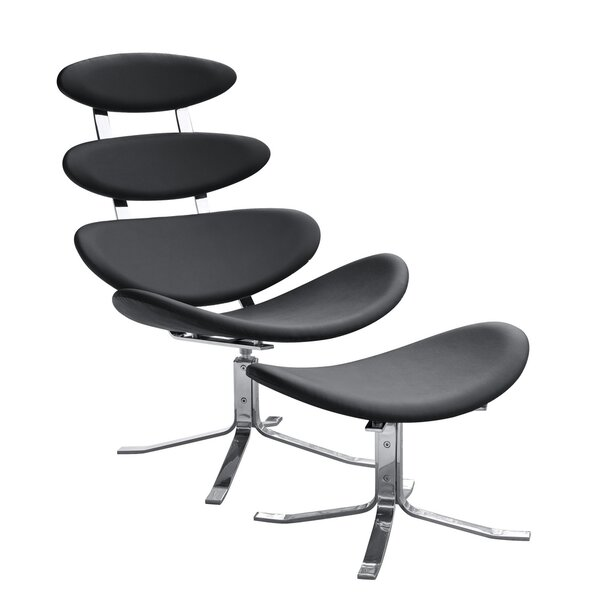 Crono Lounge Chair and Ottoman by Fine Mod Imports