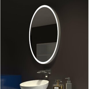 Compare prices Kristian Illuminated Oval Bathroom Mirror By Orren Ellis