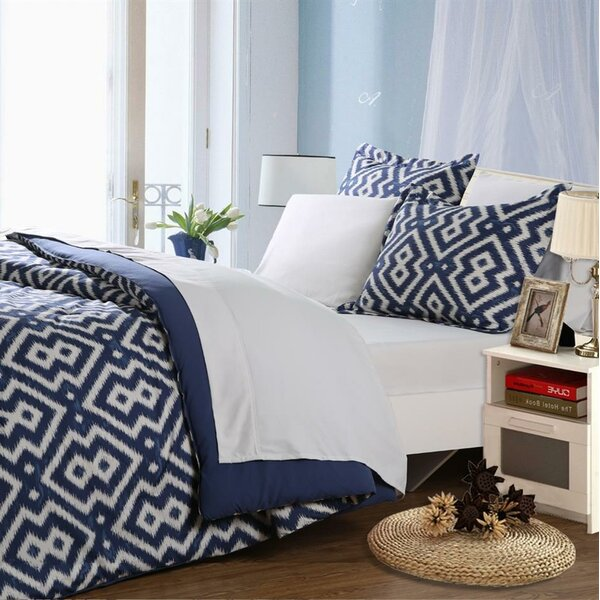 5 Piece Reversible Comforter Set by Affluence Home Fashions