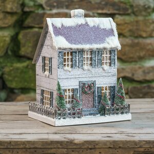 Lighted Saltbox Decorative Accents