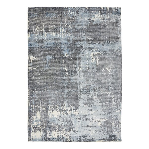 Bengta Hand-Knotted Blue/Gray Area Rug by 17 Stories