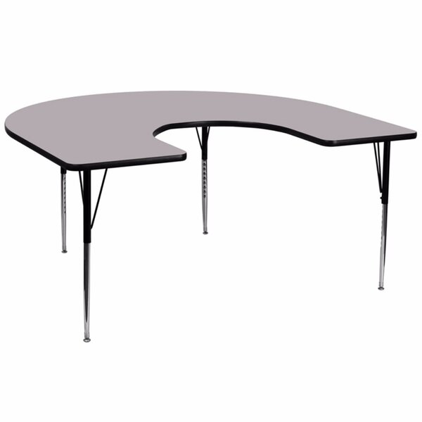 Thermal Fused Laminate Top 66'' L x 60 W Horseshoe Shaped Activity Table by Offex