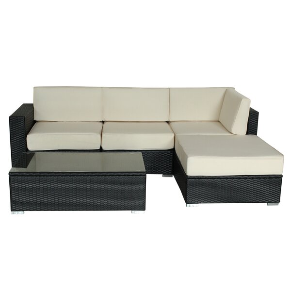 Tarbox Outdoor 3 Piece Rattan Sofa Seating Group with Cushions by Ivy Bronx