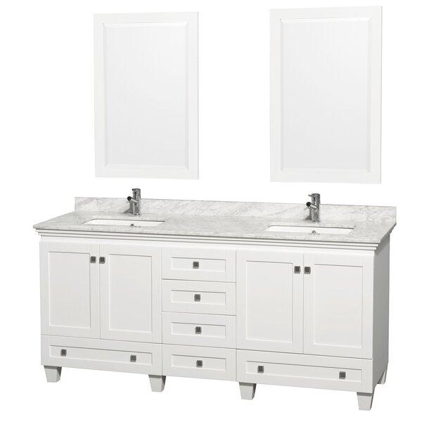 Acclaim 72 Double Bathroom Vanity Set