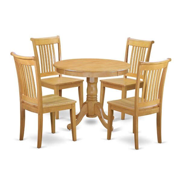 Theodore 5 Piece Breakfast Nook Solid Wood Dining Set by August Grove August Grove