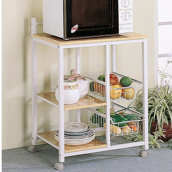 Lasher Kitchen Cart with Solid Wood by Symple Stuff