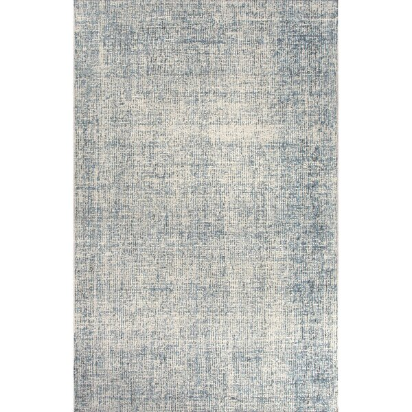 California Bay Hand Tufted Wool Ivory/Blue Area Rug by Gracie Oaks