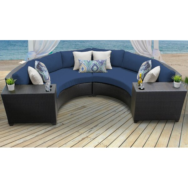 Tegan 4 Piece Rattan Sectional Seating Group with Cushions by Sol 72 Outdoor