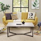 Aadhyan Cross Legs Coffee Table by Ebern Designs
