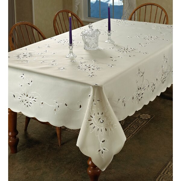 Avery Embroidered Tablecloth by Darby Home Co