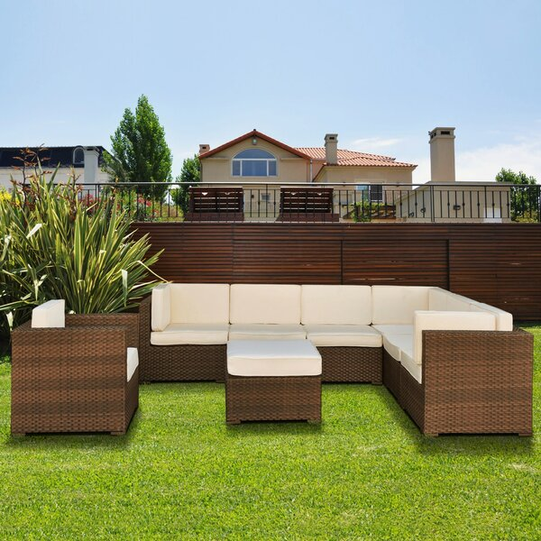 Brockport 8 Piece Sectional Set with Cushions by Sol 72 Outdoor