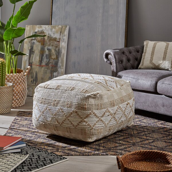 Bellman Boho Pouf by Bungalow Rose