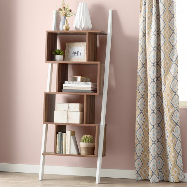Bostic Geometric Bookcase By Mercury Row