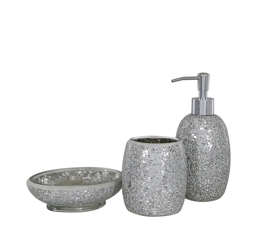 Mosaic 3 Piece Bathroom Accessories Set