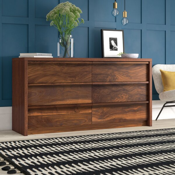 Posner 6 Drawer Double Dresser By Mercury Row by Mercury Row Best #1